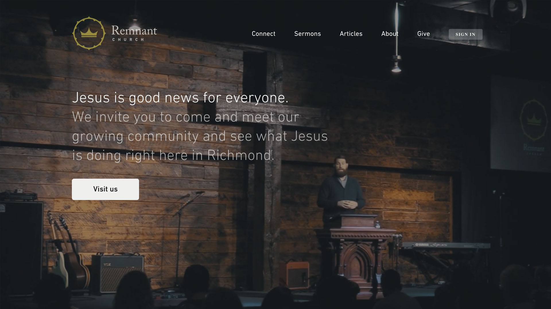 Church Websites Example - Remnant Church - https://www.remnantrva.com/