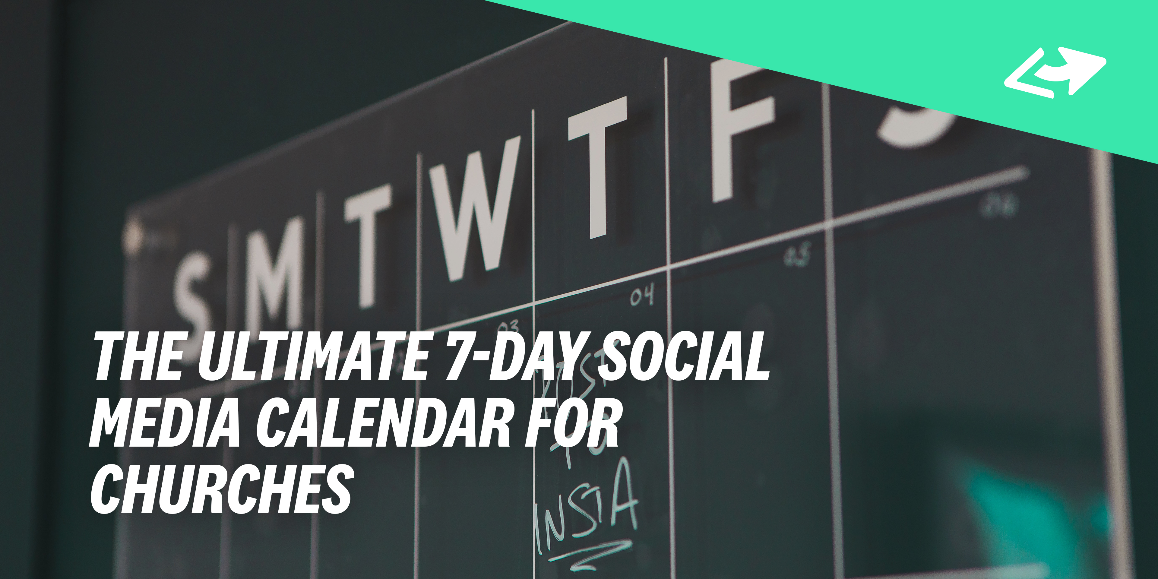 The Ultimate 7-Day Social Media Calendar For Churches - Pro